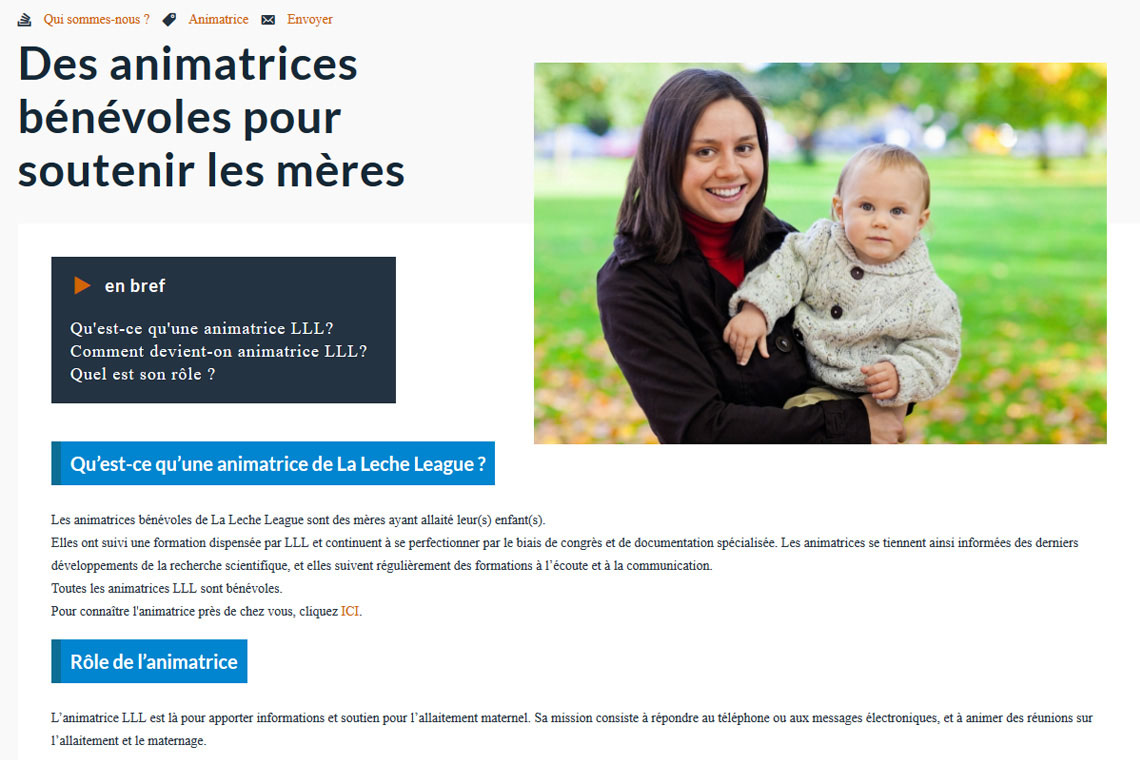 Page article du site web